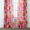 Sara B. Santa Monica 2-Pack Printed Sheer Curtain Panels