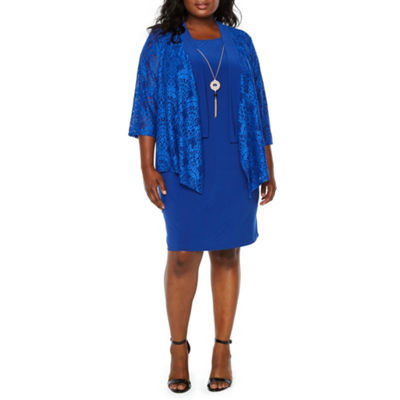 Tiana B 3/4 Sleeve Jacket Dress - Plus