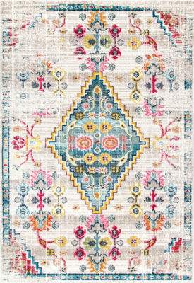 nuLoom Fading Floral Gabbeh Leahy Area Rug