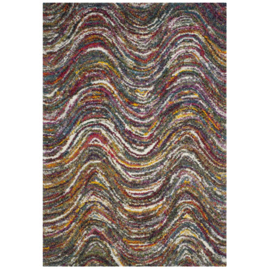 Safavieh Rachel Chevron Shag Rectangular Rugs