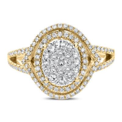 Womens 3/4 CT. T.W. Genuine White Diamond 14K Gold Engagement Ring