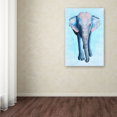 Trademark Fine Art Michelle Faber Painted Asian Elephant Giclee Canvas Art