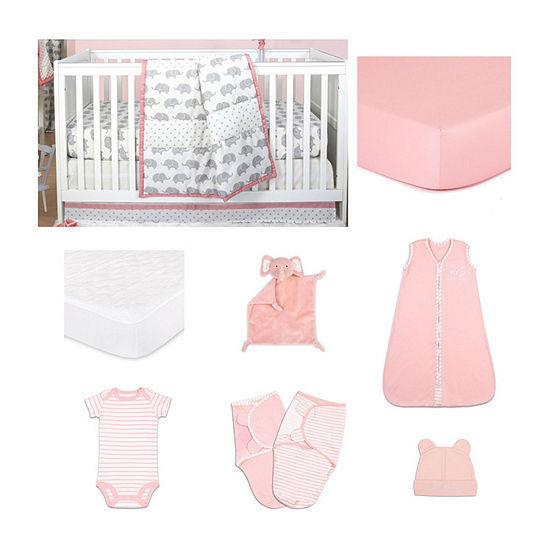 The Peanut Shell Ellie Stripe Crib Bedding Set