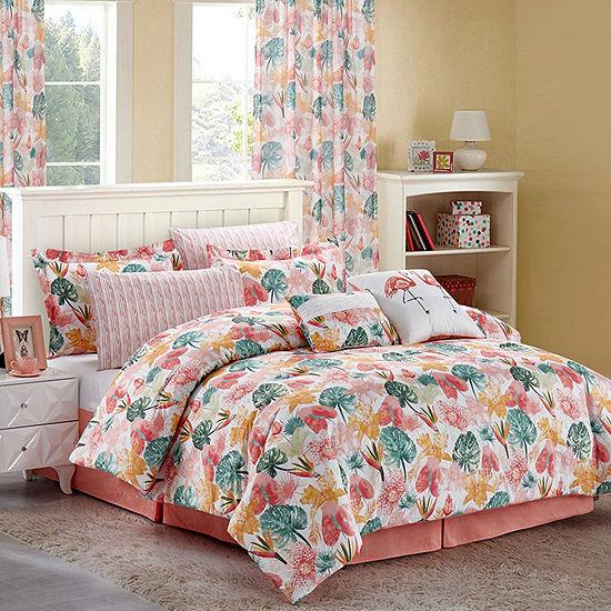 Sara B. Calypso 2-Pack Printed Sheer Curtain Panels.