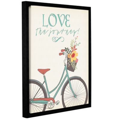 Love The Journey Floater-Framed Gallery Wrapped Canvas