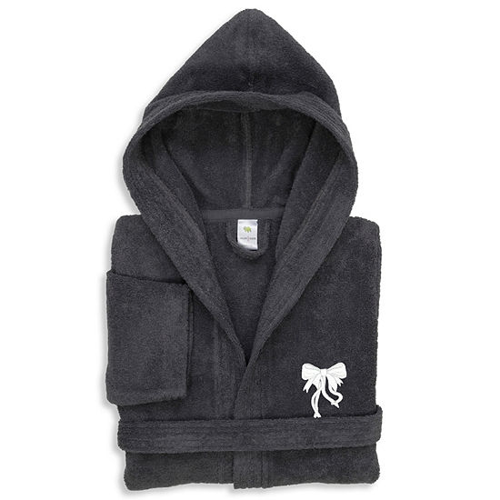 Linum  Kids 100% Turkish Cotton Hooded Terry Bathrobe  - Bow Design