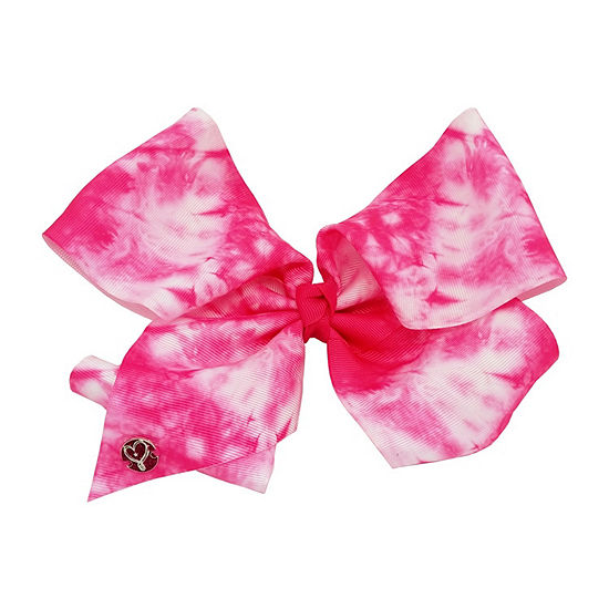 JoJo Siwa Signature Bow Tie-dye Pink & White