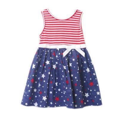 Lilt Sleeveless Star A-Line Dress - Baby Girls