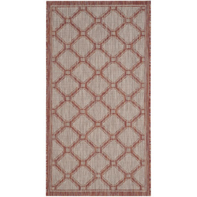 Safavieh Courtyard Collection Corrine Oriental Indoor/Outdoor Area Rug