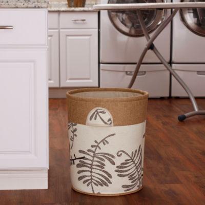 Household Essentials Round Soft-Side Burlap Hamper
