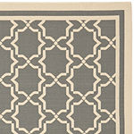 Safavieh Courtyard Collection Caymen Oriental Indoor/Outdoor Square Area Rug