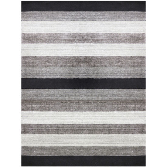 Amer Rugs Blend AB Hand-Woven Wool and Viscose Rug