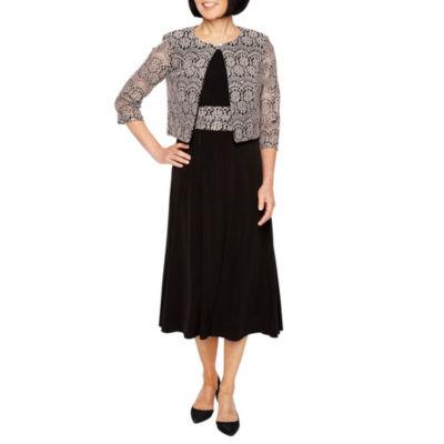 Jessica Howard Sleeveless Jacket Dress