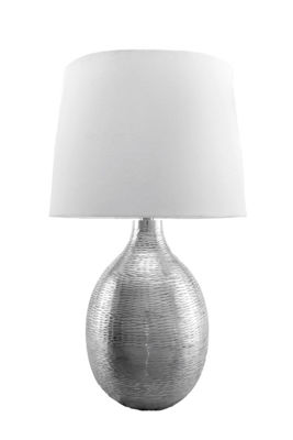 "Watch Hill 26"" Julia Aluminum Cotton Shade Table Lamp"