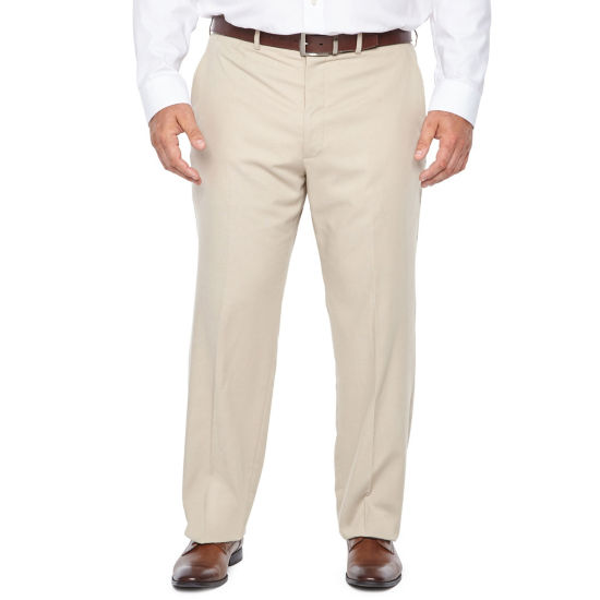 JF J.Ferrar Tan Stretch Classic Fit Suit Pants - Big and Tall