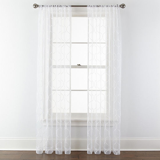 Liz Claiborne Rod-Pocket Sheer Curtain Panel