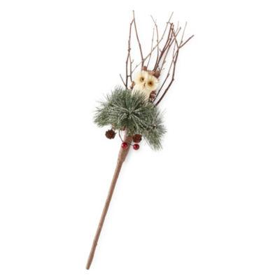 North Pole Trading Co. 22 Inch Burlap Brush Animal 3-pc. Christmas Picks