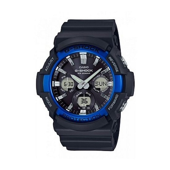 Casio G-Shock Mens Digital Black Strap Watch-Gas100b-1a2