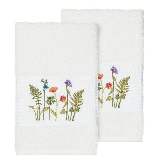 Linum Home Textiles 100% Turkish Cotton Serenity Embellished Towel Collection