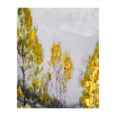 New View Light Field Framed Embellished Canvas Canvas Art