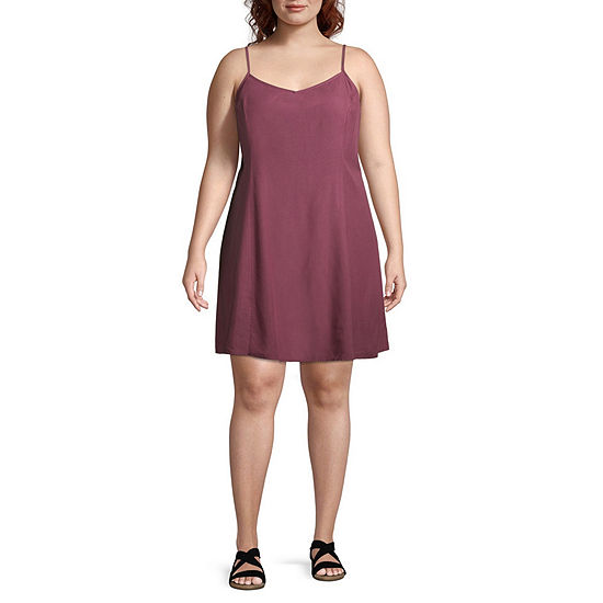 e1e7315a5122 Arizona Sleeveless Slip Dress-Juniors Plus - JCPenney