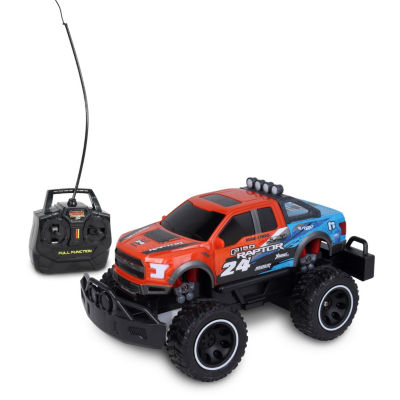 Mean Machines 1:24 Scale Radio Controlled 2017 Ford F-150 Raptor (Rc) - Colors Vary (Orange/White)