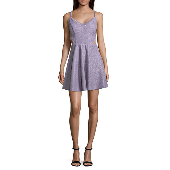 Speechless Sleeveless Skater Dress Juniors