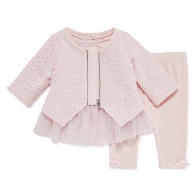 Marmellata Dot/Stripe Legging Set 3-pc - Baby Girls