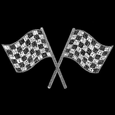Los Angeles Pop Art Women's Raglan Word Art T-shirt - NASCAR NATIONAL SERIES RACE TRACKS