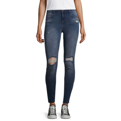Vanilla Star 4 Way Stretch Perfect Fit Womens Mid Rise Jeggings - Juniors