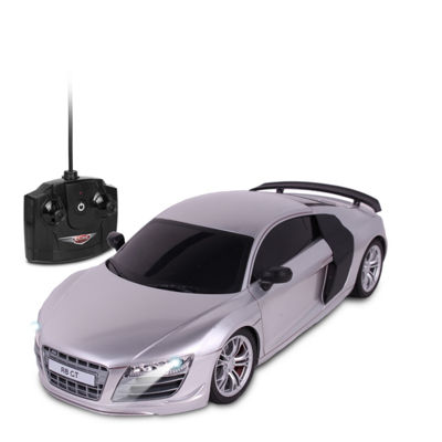 Nkok Luxe 1:18 Scale Radio Controlled Audi R8 Gt (Rc) - Colors Vary (Silver/Black)