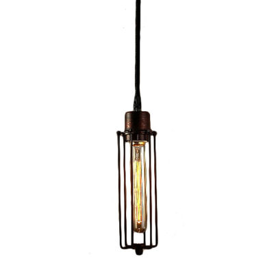 Warehouse Of Tiffany Susanna 1-light Adjustable Height Antique Edison Pendant with Bulb