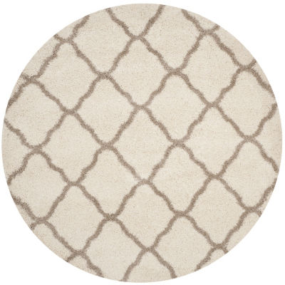 Safavieh Hudson Shag Collection Weldon Geometric Round Area Rug