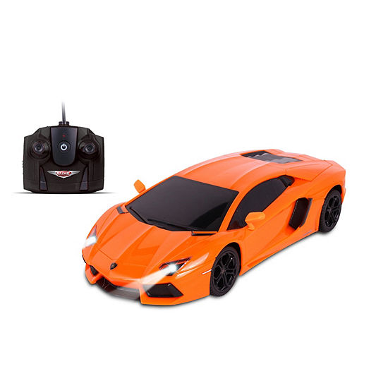 Nkok Luxe 1:24 Scale Radio Controlled Lamborghini Aventador Coupé (Rc) - Colors Vary (Orange/Green)