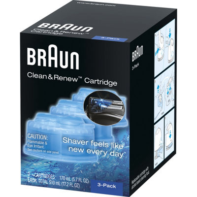 Braun Clean And Charge Refill, 3-Pack