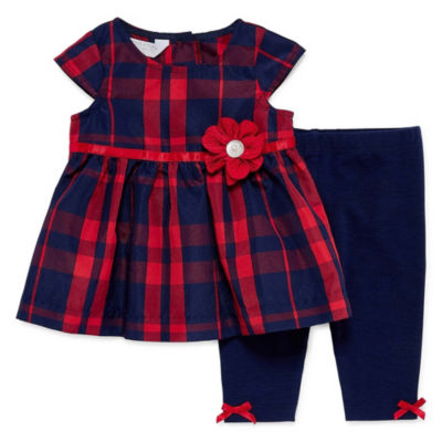 Marmellata Plaid 2-pc. Legging Set-Baby Girls