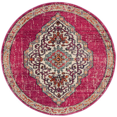 Safavieh Monaco Collection Ilean Oriental Round Area Rug
