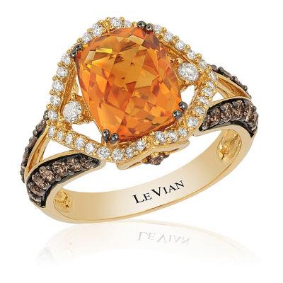 Grand Sample Sale™ By Le Vian® Cinnamon Citrine® 3/4 CT. T.W. Vanilla Diamonds® & Chocolate Diamonds® 14K Honey Gold™ Ring