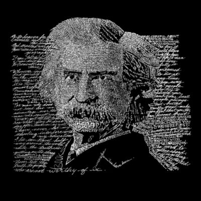 Los Angeles Pop Art Women's Raglan Word Art T-shirt - Mark Twain