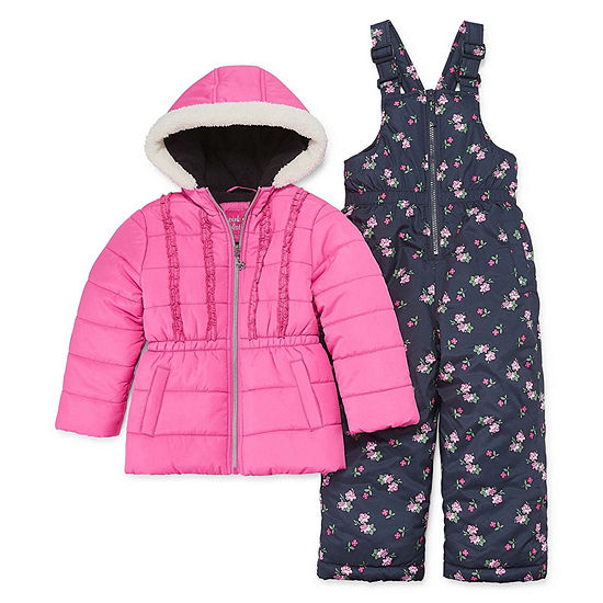 63eb8562e8d Pink Platinum Heavyweight Floral Snow Suit-Toddler Girls - JCPenney
