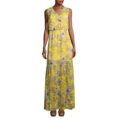 Weslee Rose Sleeveless Floral Maxi Dress