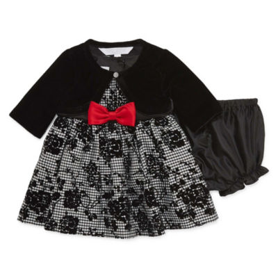 Marmellata 3pc. Gingham Dress- Baby Girls