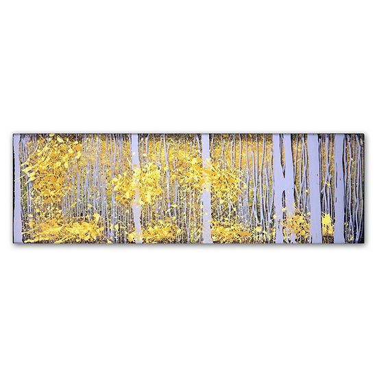 Trademark Fine Art Roderick Stevens Panoraspens Grey Forest Giclee Canvas Art