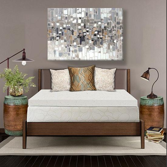 "SleepWise Copper Comfort 4"" Gel Infused Memory Foam Mattress Topper"
