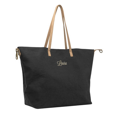 Cathy's Concepts Personalized Black Overnight Tote