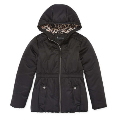 S Rothschild Girls Woven Hooded Midweight Parka-Big Kid