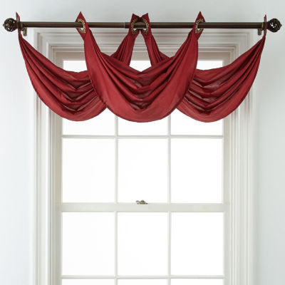 JCPenney Home Plaza Grommet-Top Waterfall Valance