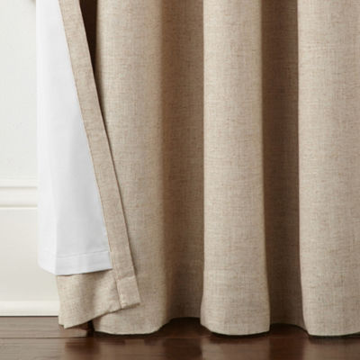 Liz Claiborne Holland Linen Blackout Grommet-Top Curtain Panel