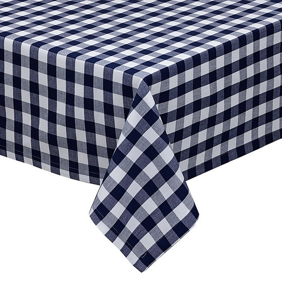 Design Imports Nautical & White Checkers Tablecloth