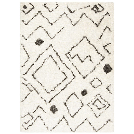 Safavieh Flokati Collection Osmond Abstract Area Rug